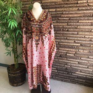 Sante Boho Embellished One Size Caftan Muumuu